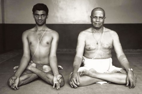Guruji and Sharath Jois